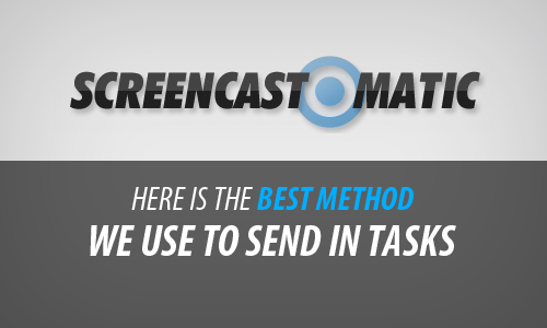 Here is the best method to send in tasks